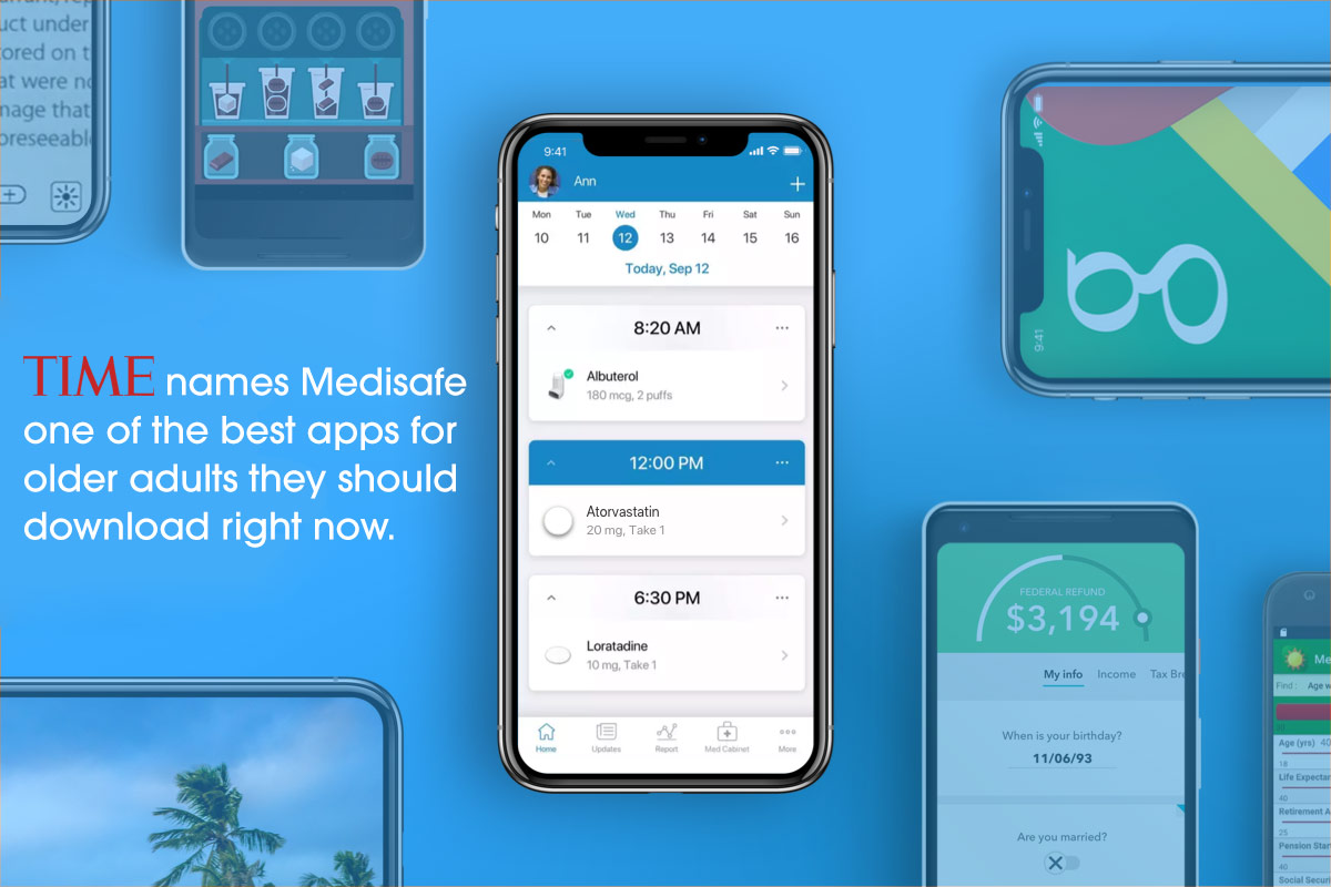 """217cc37e3c0fb Medisafe is pleased to have been featured in a Time's Money magazine article,  """"The Best Apps for Older Adults You Should Download Right Now."""""""